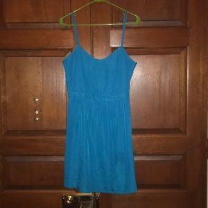 J.Crew spaghetti strap teal dress